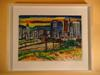 Original painting of L.A. cityscape by ROBERTO GUTIERREZ