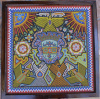 "Large vintage HUICHOL beaded art 21"" x 21"""