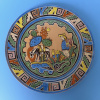"Vintage Tlaquepaque plate attributed to BALBINO LUCANO 10 1/8"" diam."