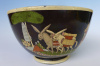 "Vintage black Tlaquepaque bowl 8 5/8"" diam."