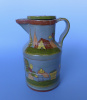 "Vintage Tlaquepaque lidded pitcher 10 1/4"" tall"